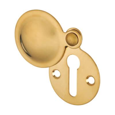 Budget Escutcheon - Keyhole - Polished Brass