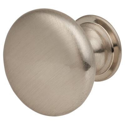 Cabinet Knob - Domed Top - 25mm - Satin Nickel