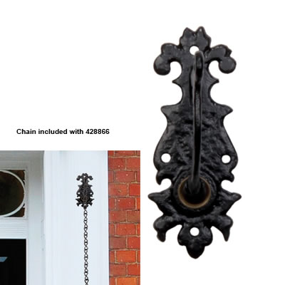 Elden Fitted Bell Crank - 139 x 50mm - Antique Black Iron