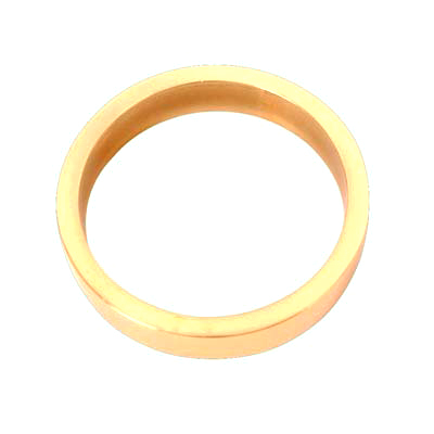 Spacer Ring For Threaded Cylinder - 10mm - Polished Brass