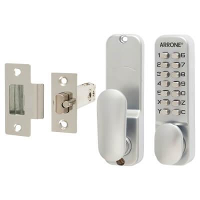 Arrone® Code Lock - Holdback Option - Satin Chrome Plated