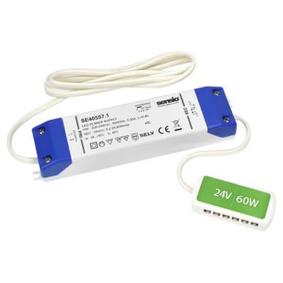 Sensio LED Driver - 60W/24V - 12 Port LED Block