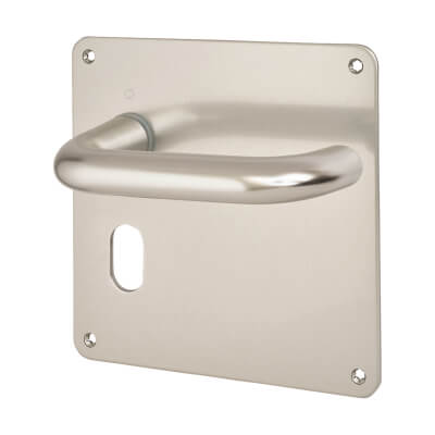 Altro 20mm Return to Door Handle - Oval Lock Set - Aluminium