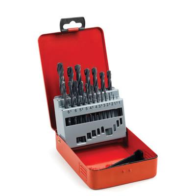 HSS-R Jobber Drill Bit Set 1-10mm - 19pcs)