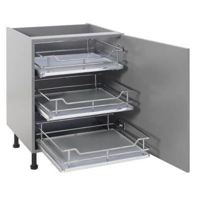 25kg Single Soft Close Pull Out Organiser - Cabinet Width 500mm
