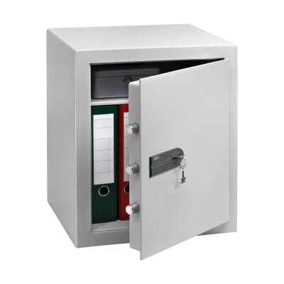 Burg Wächter C 4 S CityLine Key Operated Fire Safe - 528 x 435 x 382mm - Light Grey)