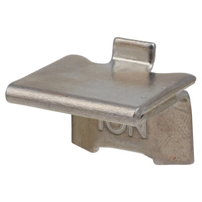 ION Heavy Duty Raised Bookcase Clip - Satin Chrome Plated - Pack 10