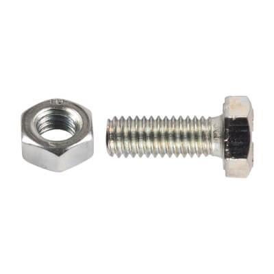 Metric HT Set Screws with Hex Nut - M12 x 25mm - Pack 2