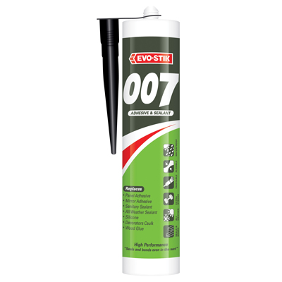 Evo-Stik 007 Adhesive & Sealant - 290ml - Black