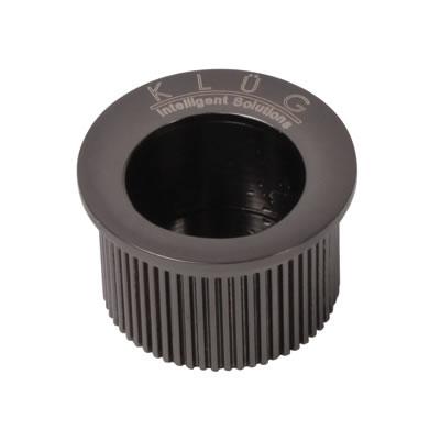 KLÜG Round Door Edge Finger Pull - 30mm - Black Nickel