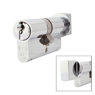 Eurospec MP10 - Euro Cylinder and Turn - 32[k] + 32mm - Polished Chrome  - Master Keyed