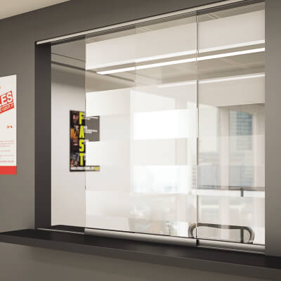 Barrier Hatch Glass Sliding Door Kit)