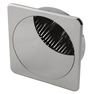 ION Mirror Effect Square Cable Tidy - 80mm - Chrome