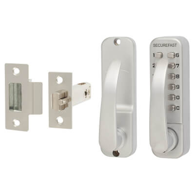 Easy Code Change Mechanical Code Lock - Lever - Stainless Steel)