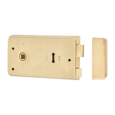 Rim Plain Edge Sashlock - Brass