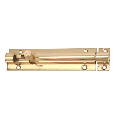Straight Barrel Bolt - 150 x 25mm - Polished Brass