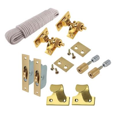 Sash Window Refurb Pack - Polished Brass
