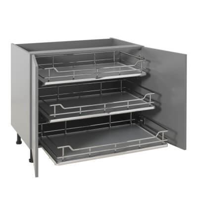 25kg Single Soft Close Pull Out Organiser - Cabinet Width 1000mm