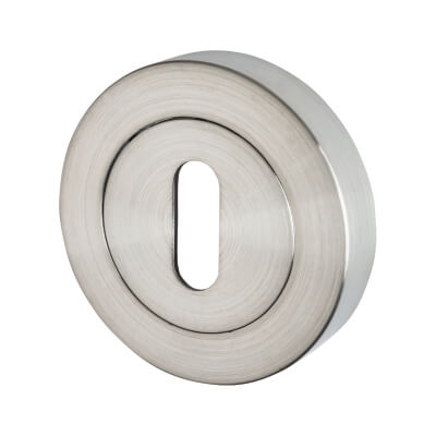 Excel Escutcheon - Keyhole - Satin Chrome