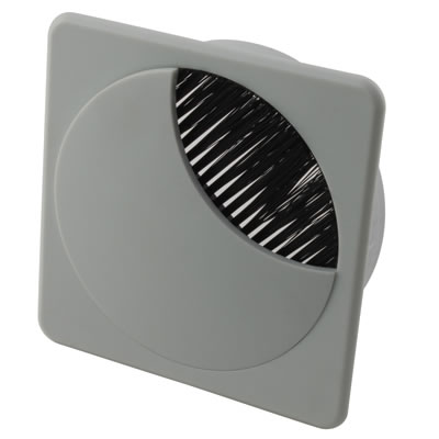 ION Square Cable Tidy - 80mm - Grey - Pack 10