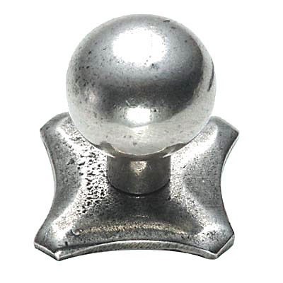 Finesse Square Base Cabinet Knob - 25mm - Pewter