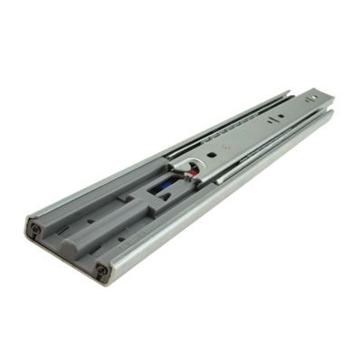 Motion 45.5mm Ball Bearing Drawer Runner - Soft Close - Double Extension - 650mm - 50 Pairs - Zinc