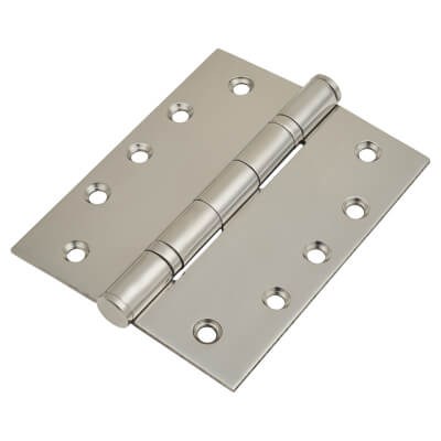 Heavy Duty Ball Bearing Hinge - 127 x 102 x 3mm - Polished Stainless Steel