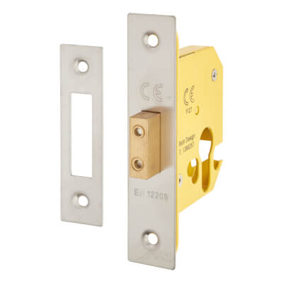 Altro Euro Deadlock - 65mm Case - 44mm Backset - Satin Stainless