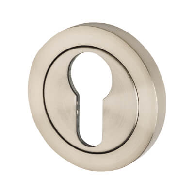 Steelworx Stainless Steel - Escutcheon - Euro - Satin Stainless
