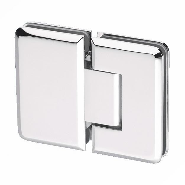 Glass to Glass Shower Hinge - 180° - 6-8mm Glass)