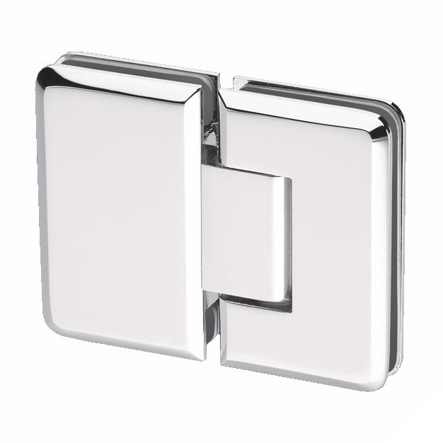 Glass to Glass Shower Hinge - 180° - 6-8mm Glass