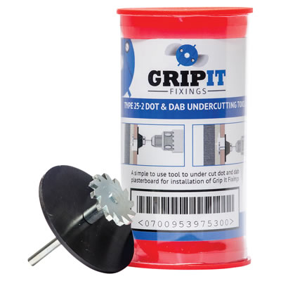 Grip It® Dot and Dab Undercutting Tool Kit - Blue - 25mm