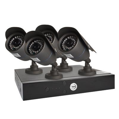 Yale® Smart HD720 4 Camera CCTV Kit)