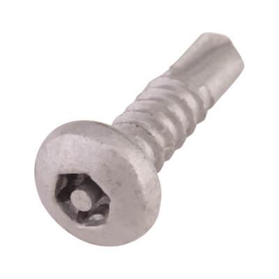 """Hafren 6-Lobe Pin Self Drilling Screws - 10 x 2"""" - Pan Head"""