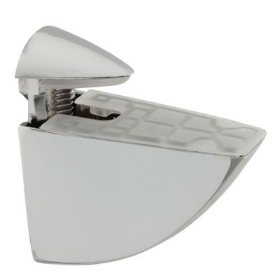 Pelican Shelf Support Bracket - 3-20mm Shelf Thickness - Polished Chrome)