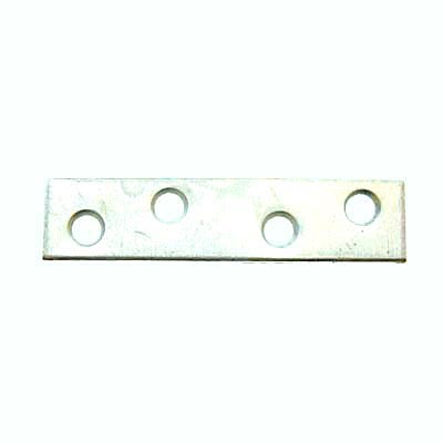 Flat Mending Plate - 75mm - Bright Zinc Plated - Pack 10