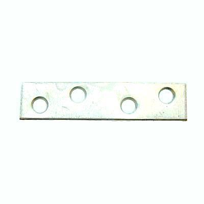 Flat Mending Plate - 75mm - Bright Zinc Plated - Pack 10