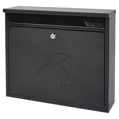 Elegance Mailbox - 362 x 310 112mm - Black)