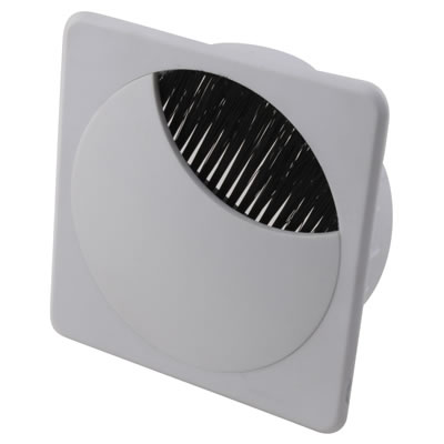 ION Square Cable Tidy - 80mm - White - Pack 10