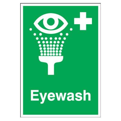 Eyewash - 210 x 148mm - Rigid Plastic)