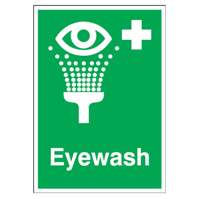 Eyewash - 210 x 148mm - Rigid Plastic