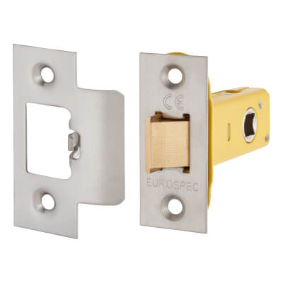 Altro Heavy Duty Tubular Latch - 65mm Case - 44mm Backset - Satin Stainless )