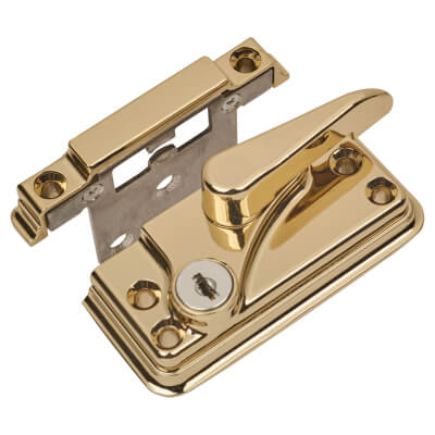 Fab & Fix High Security Fitch Fastener Cam Lock and Small Keep - Gold