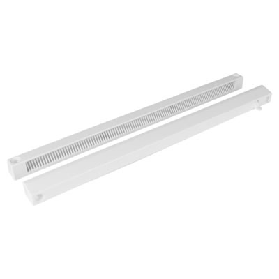 Slotvent 4000 S With Front Operation Switch - White - uPVC / Timber