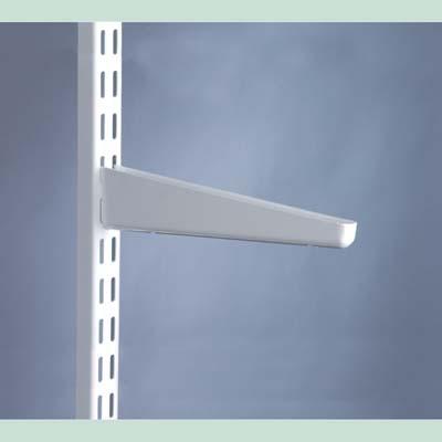 elfa® Bracket for Solid Shelving - 370mm - White)