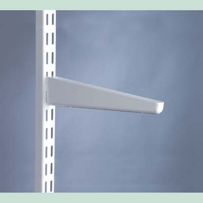 elfa® Bracket for Solid Shelving - 370mm - White)