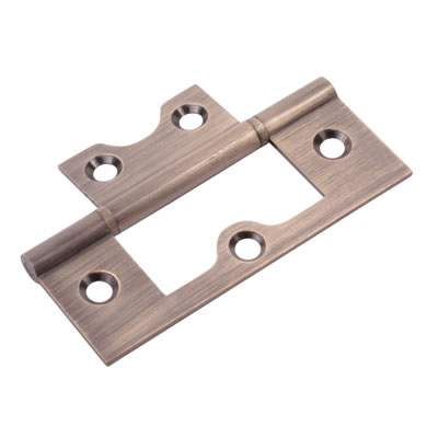 Ball Bearing Flush Hinge - 75 x 50 x 1.7mm - Antique Brass)