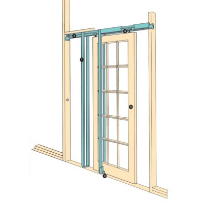 Coburn Hideaway Pocket Door Kit - 760mm Maximum Door Width)