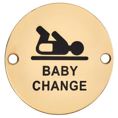 Baby Change - 75mm - Polished Brass