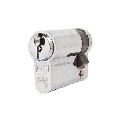 Eurospec MP10 - Euro Single Cylinder - 35 + 10mm - Polished Chrome  - Keyed Alike